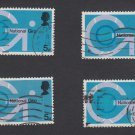 GB QEII Stamp. 1969 Post Office 5d MFU Set of 4 SG808 Mauritron #78288