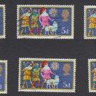 GB QEII Stamp. 1969 Christmas 5d Set 6 MFU SG813 Mauritron #78293