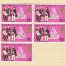 GB QEII Stamp. 1970 Anniversaries 1/9d BLK 5 UM SG823 Mauritron #78304