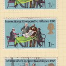 GB QEII Stamp. 1970 Anniversaries 1/- MFU Set of 3 SG821 Mauritron #78307