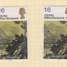 GB QEII Stamp. 1970 Literary 1/6d MFU Set of 2 SG828 Mauritron #78317