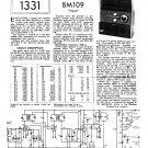 Pilot BM109 Schematics Circuits Service Sheets  for download.