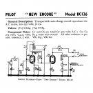 Pilot New Encore RC126 Schematics Circuits Service Sheets  for download.