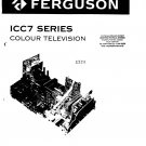 Ferguson ICC7  Colour Television Service Manual download.