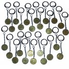 Keyrings 3d Threepence Bulk Job Lot of 25 1937 - 1967 Mauritron #79191.