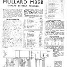 Mullard Mb3b Wireless Service Sheets PDF download.
