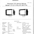 Mitsubishi CT2117TX Television Service Manual PDF download.
