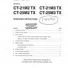 Mitsubishi CT25M3TX Television Operating Guide PDF download.