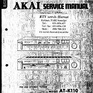 Akai ATK110 Audio Equipment Service Manual PDF download.