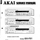 Akai GXF71 Audio Equipment Service Manual PDF download.