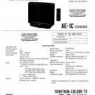 Sony KVA2112U. AE1C  Television Service Manual PDF download.