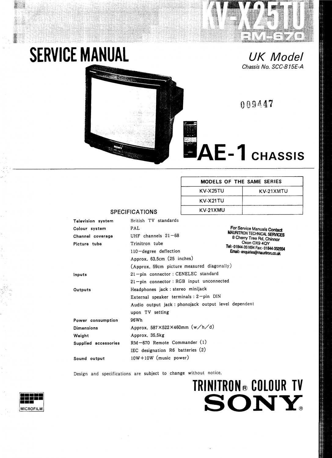 sony kvc25 ae1 chassis television service manual pdf download rh ecrater com