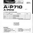 Pioneer AP710  AMPLIFIER Service Manual PDF download.