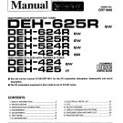 Pioneer DEH625R  CD TUNER Service Manual PDF download.