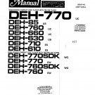 Pioneer DEH770  CD TUNER Service Manual PDF download.