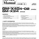Pioneer GMX404-02  AMPLIFIER Service Manual PDF download.