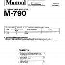 Pioneer M790  AMPLIFIER Service Manual PDF download.