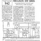 Ferguson 259RG Vintage Audio Service Schematics PDF download.