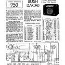 Bush DAC90 Vintage Wireless Service Schematics PDF download.