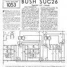 Bush SUG26 Vintage Wireless Service Schematics PDF download.