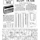 Bush TR106 Vintage Wireless Service Schematics PDF download.