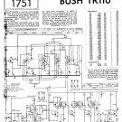 Bush TR116 Vintage Wireless Service Schematics PDF download.