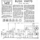 Bush VHF70 Vintage Wireless Service Schematics PDF download.