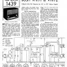 Bush VHF71 Vintage Wireless Service Schematics PDF download.
