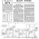 Bush VHF80 Vintage Wireless Service Schematics PDF download.