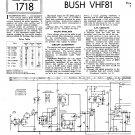 Bush VHF81 Vintage Wireless Service Schematics PDF download.