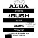 BUSH CTV842 Service Manual by download #90137