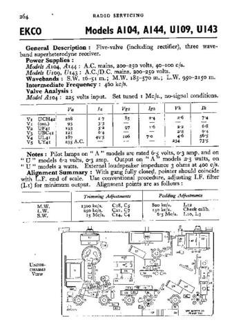 EKCO A104 Equipment Service Information by download #90151