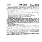 EKCO CR280 Equipment Service Information by download #90187