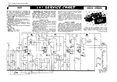 EKCO CR926 Equipment Service Information by download #90196
