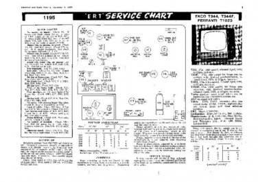 EKCO T344 Equipment Service Information by download #90301