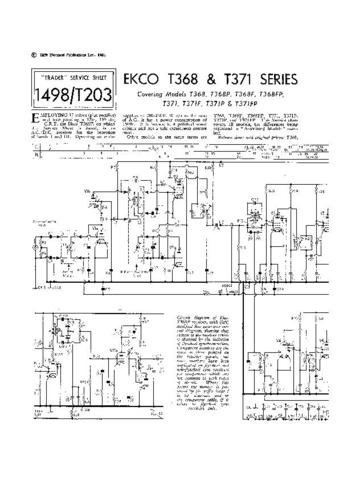 EKCO T368F Equipment Service Information by download #90306