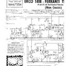 EKCO T418 Equipment Service Information by download #90323
