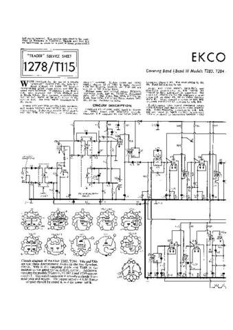 EKCO TC209 Equipment Service Information by download #90342