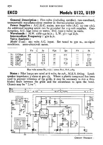 EKCO U122 Vol 2 Equipment Service Information by download #90381