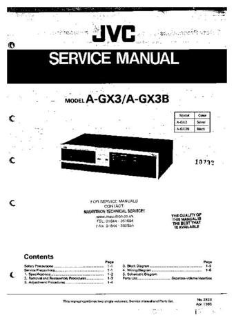 JVC AGX3B Service Manual by download #90504