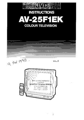 JVC AV25F1EK Operating Guide by download #90513