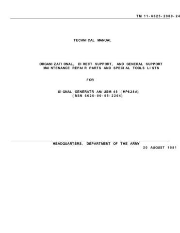 Military TM 11-6625-2909-24P Military Technical Manual by download #90600