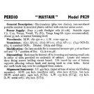 PERDIO PR29 Equipment Service Information by download #90643