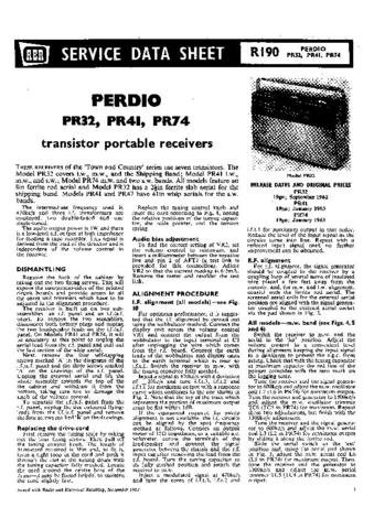 PERDIO PR74 Vol 2 Equipment Service Information by download #90661