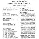 PHILIPS 1458U Vintage TV Service Info  by download #90682