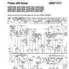 PHILIPS G20T301 Vintage TV Service Info  by download #90751