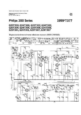PHILIPS G24T301 Vintage TV Service Info  by download #90760