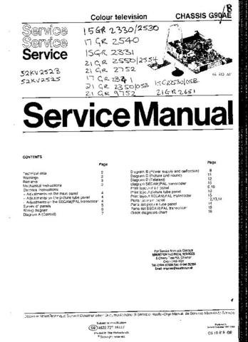 PYE 15GR2331 Equipment Service Information by download #90811