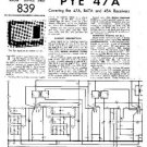 PYE B47A Vintage Service Information  by download #90854