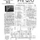 PYE Q70 Vintage Service Information  by download #90970